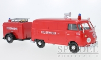 VW T1 van with trailer - fire department - red