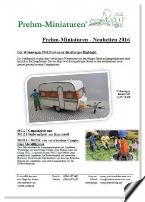 Prehm-Miniaturen - Neuheitenblatt 2016