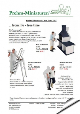 New Items 2021 - Prehm-Miniaturen -....from life - free time